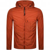 Product Image for CP Company Goggle Hood Overshirt Jacket Orange
