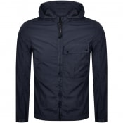 Product Image for CP Company Goggle Hood Overshirt Jacket Navy