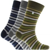 Product Image for Barbour Triple Pack Stripe Socks Mix