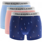 Product Image for Ralph Lauren Underwear 3 Pack Boxer Trunks Blue