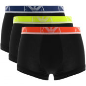 Product Image for Emporio Armani Underwear 3 Pack Boxer Trunks Black