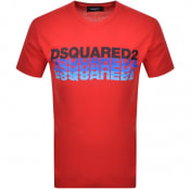 Product Image for DSQUARED2 Short Sleeved T Shirt Red