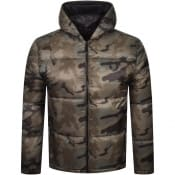 Product Image for True Religion Camo Puffer Jacket Khaki