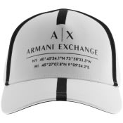 Product Image for Armani Exchange logo Baseball Cap White