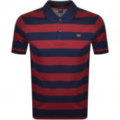 Product Image for Paul And Shark Stripe Polo T Shirt Navy