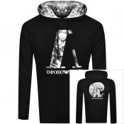 Product Image for Emporio Armani Pullover Logo Hoodie Black