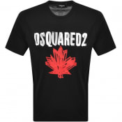 Product Image for DSQUARED2 Logo Short Sleeved T Shirt Black