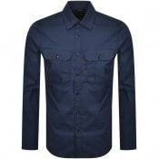 Product Image for G Star Raw Police Poplin Slim Shirt Navy