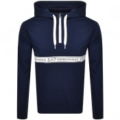 Product Image for EA7 Emporio Armani Half Zip Hoodie Blue