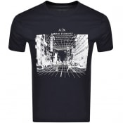 Product Image for Armani Exchange Logo T Shirt Navy