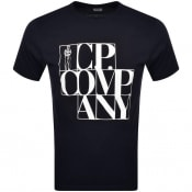 Product Image for CP Company Logo T Shirt Navy