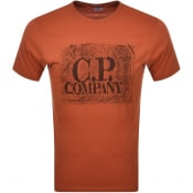 Product Image for CP Company Logo T Shirt Orange