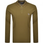 Product Image for PS By Paul Smith Long Sleeved Polo T Shirt Green