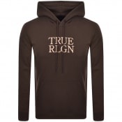 Product Image for True Religion Logo Hoodie Brown