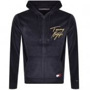 Product Image for Tommy Hilfiger Full Zip Velour Hoodie Navy