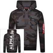 Product Image for Alpha Industries Camouflage Back Print Hoodie Grey