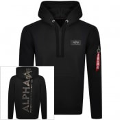 Product Image for Alpha Industries Camouflage Print Hoodie Black
