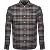 Product Image for Lyle And Scott Brushed Check Shirt Grey