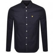 Product Image for Lyle And Scott Brushed Tweed Shirt Navy