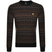 Product Image for Lyle And Scott Fair Isle Knit Jumper Black