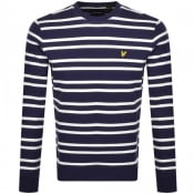 Product Image for Lyle And Scott Double Stripe Sweatshirt Navy