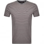 Product Image for Pretty Green Multi Stripe T Shirt Red