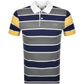 Product Image for Lacoste Striped Short Sleeved Polo T Shirt Blue