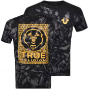 Product Image for True Religion Tie Dye Tour Logo T Shirt Black