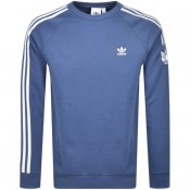 Product Image for adidas Originals 3D Stripe Sweatshirt Blue