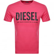Product Image for Diesel T Diego Short Sleeved T Shirt Pink