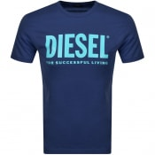 Product Image for Diesel T Diego Short Sleeved T Shirt Navy