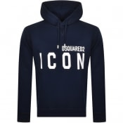 Product Image for DSQUARED2 Logo Pullover Hoodie Blue