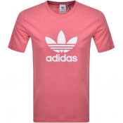 Product Image for adidas Originals Trefoil T Shirt Pink