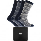 Product Image for Levis 168SF 4 Pack Socks Gift Set Blue
