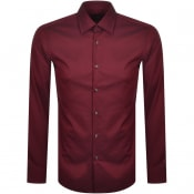 Product Image for BOSS Jango Slim Fit Long Sleeve Shirt Red