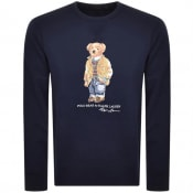 Product Image for Ralph Lauren Crew Neck Bear Sweatshirt Navy