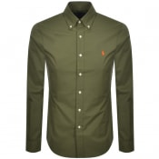 Product Image for Ralph Lauren Long Sleeved Slim Fit Shirt Green