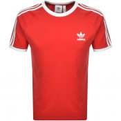 Product Image for adidas Originals 3 Stripe T Shirt Red