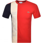 Product Image for Lacoste Colour Block T Shirt Red