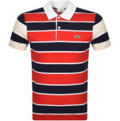 Product Image for Lacoste Striped Short Sleeved Polo T Shirt Navy
