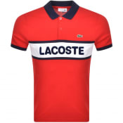 Product Image for Lacoste Sport Short Sleeved Polo T Shirt Red