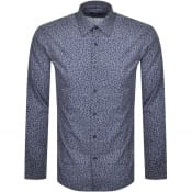 Product Image for BOSS Ganos Slim Fit Long Sleeve Shirt Navy