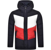 Product Image for Tommy Hilfiger Chevron Colour Block Jacket Navy