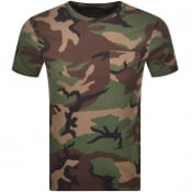 Product Image for Ralph Lauren Camouflage Print T Shirt Green