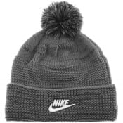 Product Image for Nike Cuffed Pom Swoosh Beanie Hat Grey