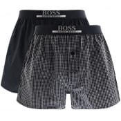 Product Image for BOSS Underwear Two Pack Woven Boxer Shorts Navy