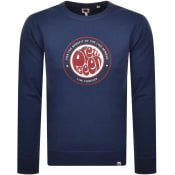 Product Image for Pretty Green Like Minded Logo Sweatshirt Navy