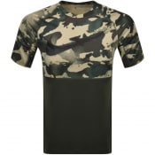 Product Image for Nike Training Slim Camo Logo T Shirt Khaki