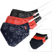 Product Image for Levis 3 Pack Paisley Face Print Masks Red