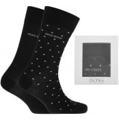 Product Image for BOSS Two Pack Sock Gift Set Black